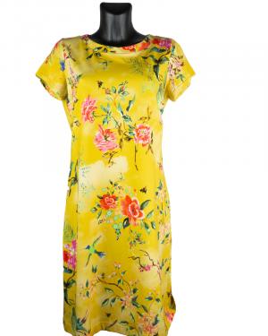 B-Three jurk Flower yellow